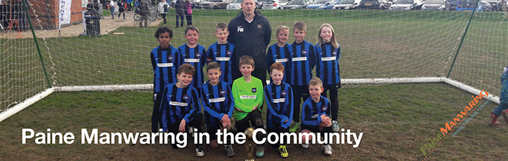 Paine Manwaring in the Community – Worthing Town Youth Football sponsorship