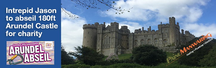 Intrepid Jason to abseil 180ft Arundel Castle for charity
