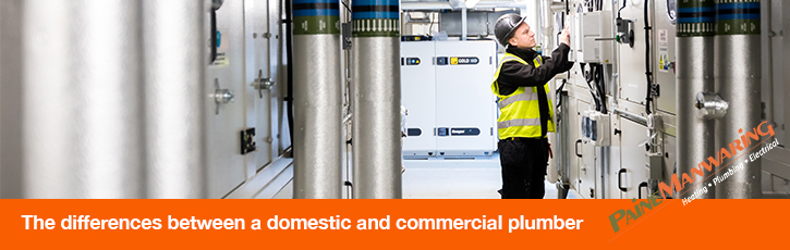The differences between a domestic and commercial plumber
